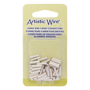 Artistic Wire 14 Gauge crimp tubes 10mm Tarnish Resistant Silver