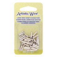 Artistic Wire 16 Gauge crimp tubes 10mm Tarnish Resistant Silver