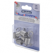 Beadalon bead stopper large 6st. Stainless steel