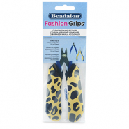 Beadalon fashion grips tangen covers cheetah Geel-zwart