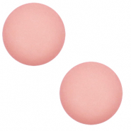 12 mm classic cabochon Polaris Elements matt Cloud coral pink