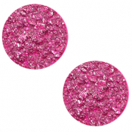 20 mm platte cabochon Polaris Elements Goldstein Magenta purple