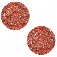 20 mm platte cabochon Polaris Elements Goldstein Tigerlily coral pink