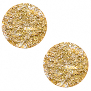12 mm platte cabochon Polaris Elements Goldstein Mineral yellow