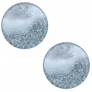 12 mm platte cabochon Polaris Elements Stardust Powder blue