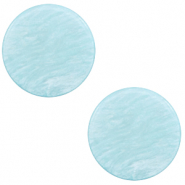 20 mm platte cabochon Polaris Elements Lively Sky blue