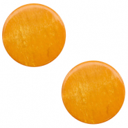 12 mm platte cabochon Polaris Elements Lively Caramel yellow