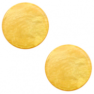 12 mm platte cabochon Polaris Elements Lively Mineral yellow