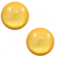 20 mm classic Cabochon Polaris Elements soft tone shiny Mineral yellow