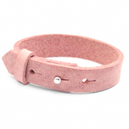 Cuoio armbanden leer 15 mm voor 20 mm cabochon Pressed rose red
