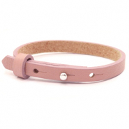 Cuoio armbanden leer 8 mm voor 12 mm cabochon Rose dawn pink