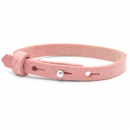 Cuoio armbanden leer kids 8mm voor 12mm cabochon Pressed rose red