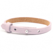 Cuoio armbanden leer kids 8mm voor 12mm cabochon Light orchid pink