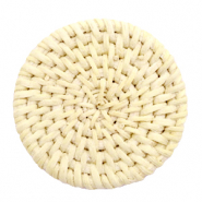 Geweven rotan hanger rond 45mm Naturel beige