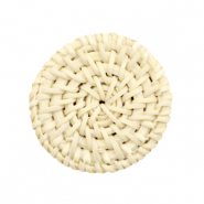 Geweven rotan hanger rond 36mm Naturel beige
