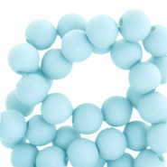 8 mm acryl kralen matt Sky blue