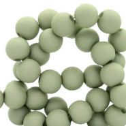 6 mm acryl kralen matt Misty grey-green