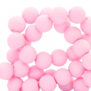 6 mm acryl kralen matt Sweet light pink
