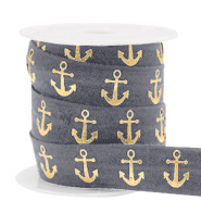 Elastisch lint anchor Anthracite-gold