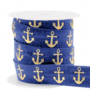 Elastisch lint anchor Dark blue-gold