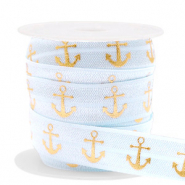 Elastisch lint anchor Light blue-gold