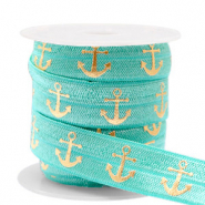 Elastisch lint anchor Turquoise-gold