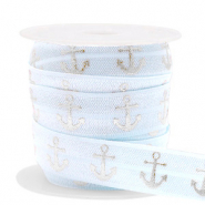Elastisch lint anchor Light blue-silver