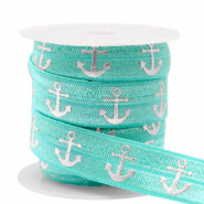 Elastisch lint anchor Turquoise-silver