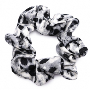 Scrunchies haarelastiek snake print Black-grey