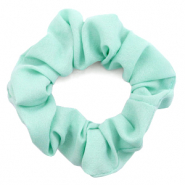 Scrunchies haarelastiek Aqua green
