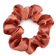 Scrunchies haarelastiek velvet Rust red
