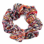 Scrunchies haarelastiek paisley print Multicolour red