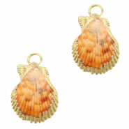Schelp hangers specials Mantel Peachy orange-gold