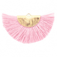 Kwastjes hanger Light pink-gold