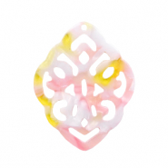 Resin hangers ruit barok Pink-yellow