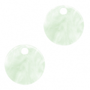Resin hangers rond 12mm Bit of green