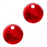 Resin hangers rond 12mm Cherry red
