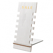 "Sieraad display hout ""SALE"" Metallic Silver"