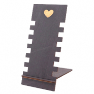 "Sieraad display hout ""Heart"" Black"