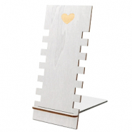 "Sieraad display hout ""Heart"" Metallic Silver"