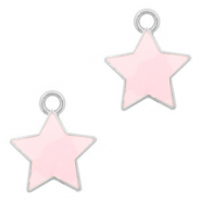 Basic Quality metalen bedels ster Zilver-Pink