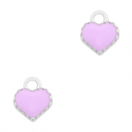 Basic Quality metalen bedels hart Zilver-Purple