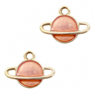Basic Quality metalen bedels planeet Goud-peach