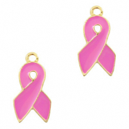 Basic Quality metalen bedels ribbon Goud-pink