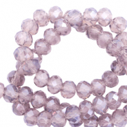 Top Facet kralen 8x6 mm disc Anthracite purple-pearl shine coating