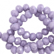 Top Facet kralen 8x6 mm disc Lavender purple-pearl shine coating
