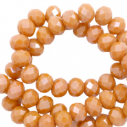Top Facet kralen 4x3 mm disc Bronze orange-pearl shine coating