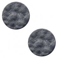 DQ leer cabochons 20mm Black antracite