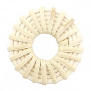 Rotan hanger rond 40mm Natural beige