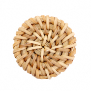 Rotan hanger rond 30mm Natural brown